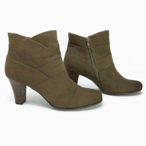 A2 by Aerosoles Criss Cross Faux Suede Booties